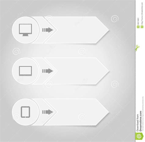 template layout paper infographic design template paper tags with electr stock
