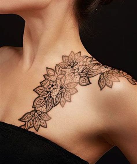 shoulder blade tattoos female best 25 lace shoulder ideas on