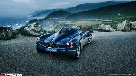 blue pagani exclusive blue pagani huayra meets mercedes benz sl65 amg