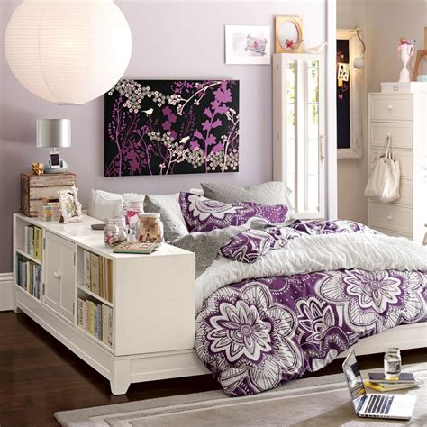 purple themed bedroom 10 cool purple themed teen rooms bookcase storage