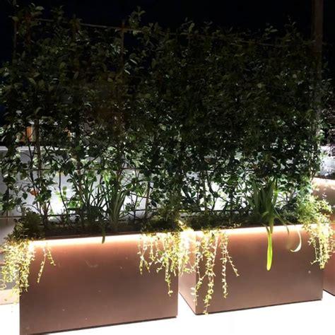 fioriere illuminate giardineggiando fioriera in acciaio corten misura cm