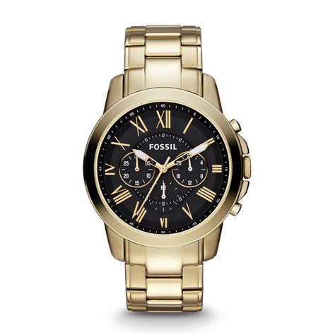 Fossilxx Crono Aktif List Gold fossil grant chronograph stainless steel gold tone fs4815 fossil 174