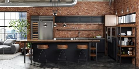 Sleek Kitchen Designs by Industrial Style Loft Kitchen Remodel Dura Supreme