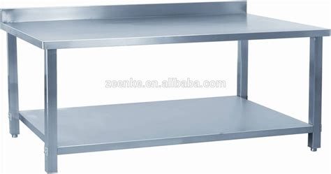 stainless steel work table with two shelves assembly 2 tier kitchen work table stainless steel