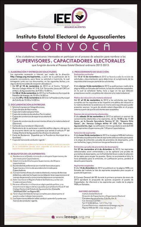 convocatorias de vacantes vigentes bolivia iee aguascalientes