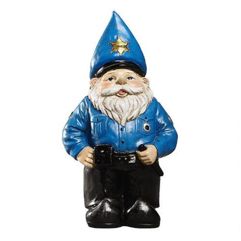 christmas policeman for yard officer gnome garden accent tree shops andthat