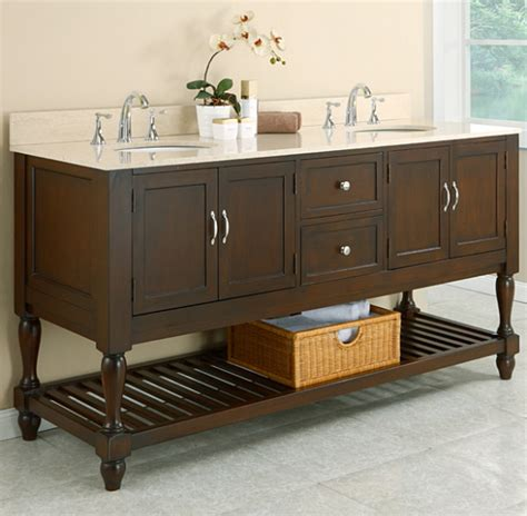 bathroom vanities that look like furniture customizing stock cabinets for a bathroom vanity two