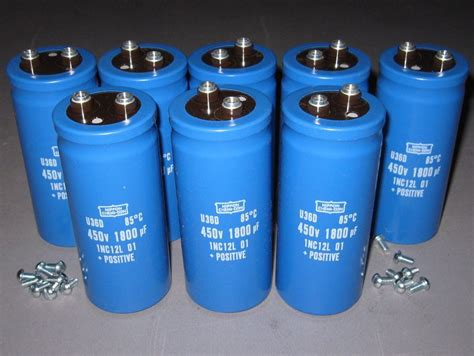 capacitor high voltage lot of 8 450v 1800uf electrolytic capacitors high voltage new in box ebay