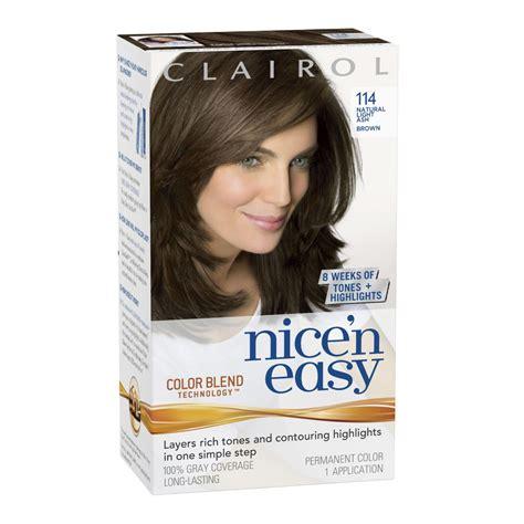 clairol nice n easy hair color chart clairol color chart clairol nice n easy hair color natural light ash brown