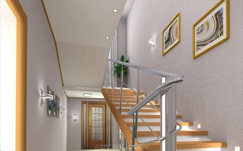 Interior Stairs Design Wooden Stairs And Steel Railing Interior Design Ideas With Images14