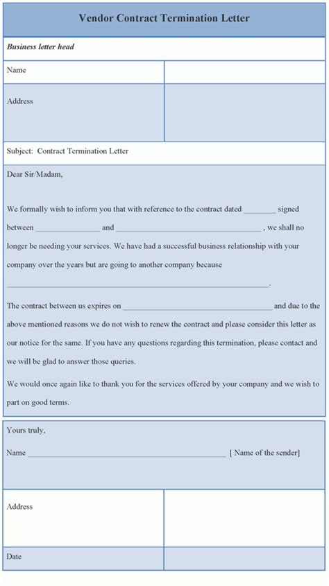 Contract Termination Letter To Vendor Termination Quotes Quotesgram