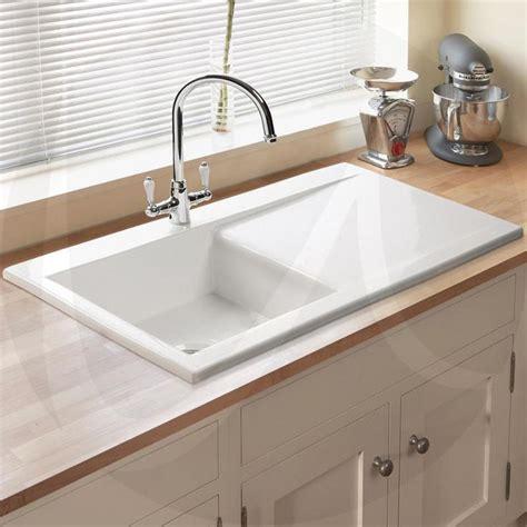 Ceramic White Sink by Astini Desire 100 1 0 Bowl Gloss White Ceramic Kitchen