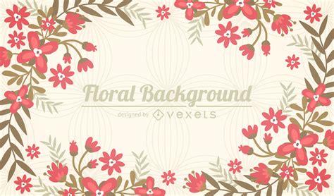 imagenes de flores ilustradas fondo de marco de flores planas descargar vector
