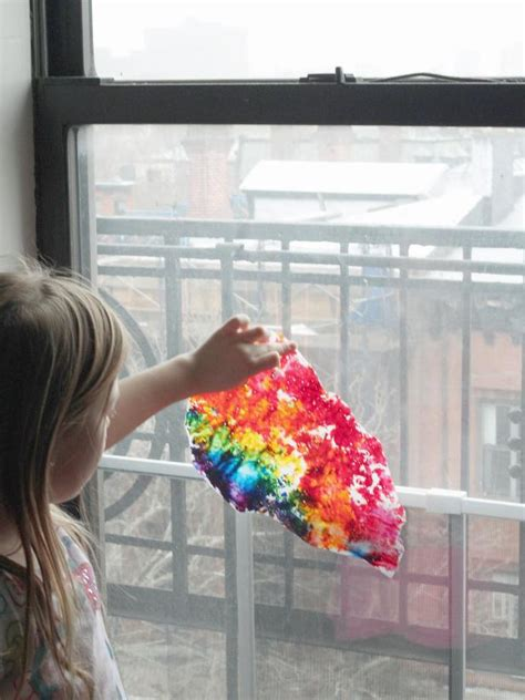 Wax Paper Arts And Crafts - craft wax paper rainbow hgtv