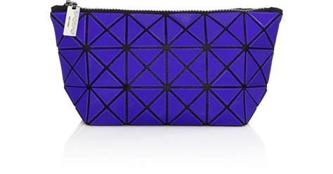 Pouch Bao Bao Semprem Uk24x16 bao bao issey miyake lucent faux leather pouch in blue lyst