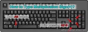How To Do Infinity Sign On Keyboard How To Type Multiplication Sign 215 In Computer