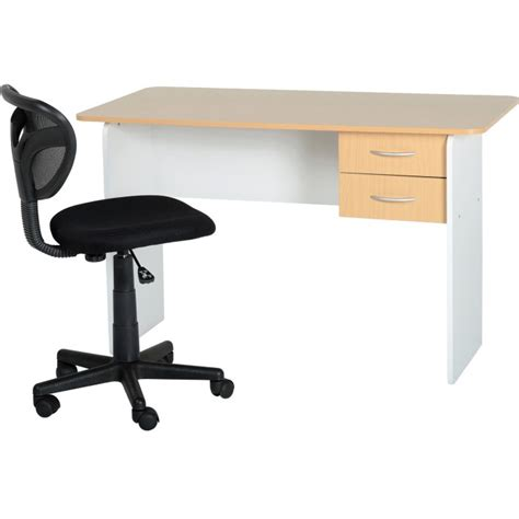 Study Desk Dimensions by Seconique 2 Drawer Study Desk In Beech And White