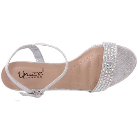 embellished wedding sandals unze womens adona embellished bridal sandals uk size 3 8