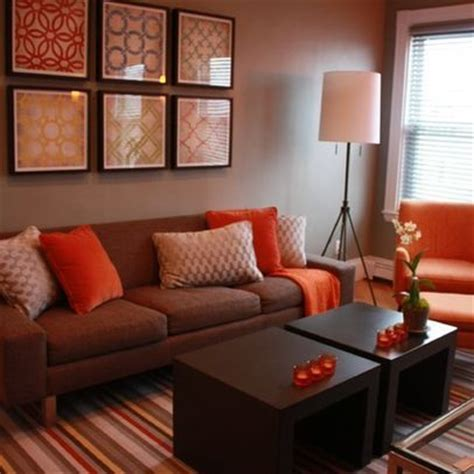 orange and brown living room pin by johnson on for the home