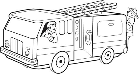 free coloring pages of fire engine