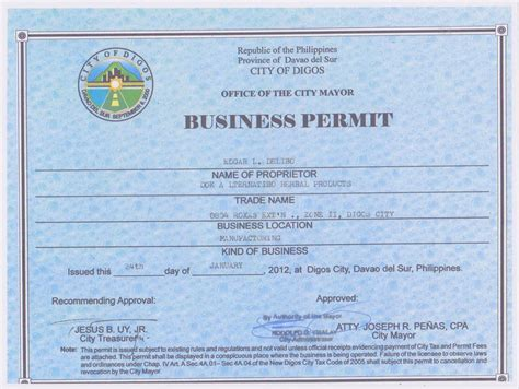 Permit Template and permit business permit