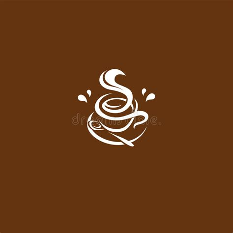 isolated brown color cup in retro style background coffee shop isolated brown color cup in retro style logo logotype for
