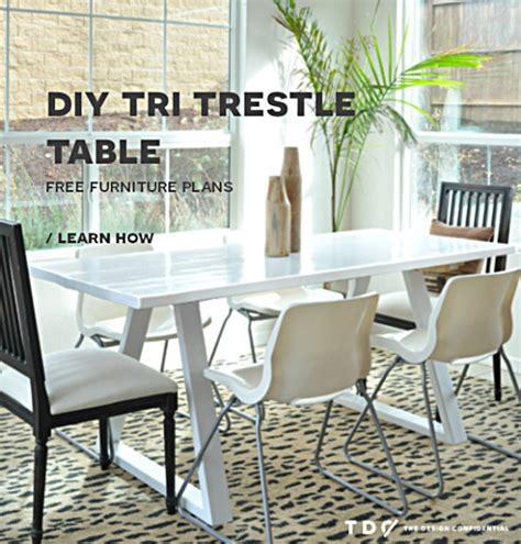 diy trestle dining table how to make your own modern trestle style dining table