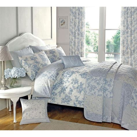 blue flower comforter set traditional toile duvet quilt cover floral bedding set