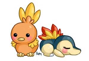 torchic and cyndaquil by amphany on deviantart