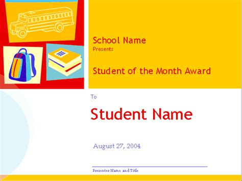 student of the month certificate templates free student of the month award high school free