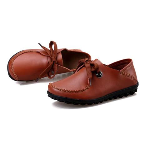 comfortable slip resistant shoes women shoes leather casual comfortable outdoor flats slip