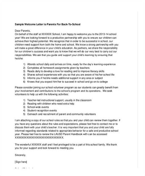 school letter templates sample format