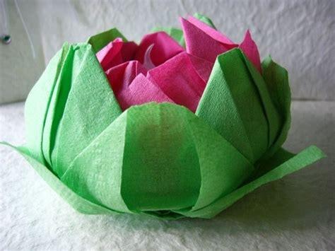 fiori di loto di carta origami fiore di loto fiori di carta come fare fiori