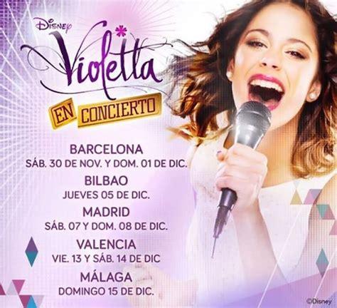 entradas concierto violeta entradas concierto violetta espa 241 a