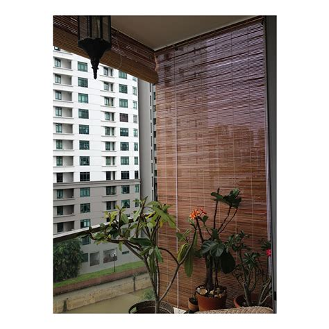 transparent window coverings bamboo blinds in singapore