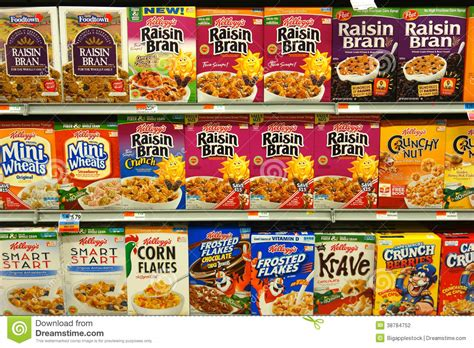 Supermarket Box breakfast cereal boxes editorial photography image of food 38784752