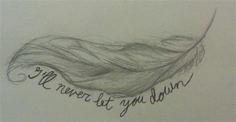 feather tattoo let it go i let you down quotes quotesgram