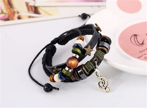 Gelang Tangan Pria Cowok Promo Utopia Bracelet Brown gelang kulit pria dan wanita korean style and bracelet aksesoris pria dan wanita