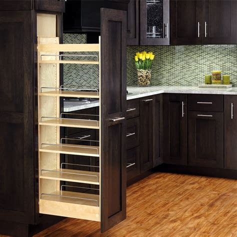 Kitchen Cabinets Pull Out Drawers by Rev A Shelf Wood Pull Out Pantry With Adjustable