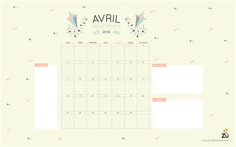 Calendrier Do It Yourself Le Calendrier Diy Avril 2016 Z 252 Le