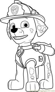 marshall coloring free paw patrol coloring pages coloringpages101