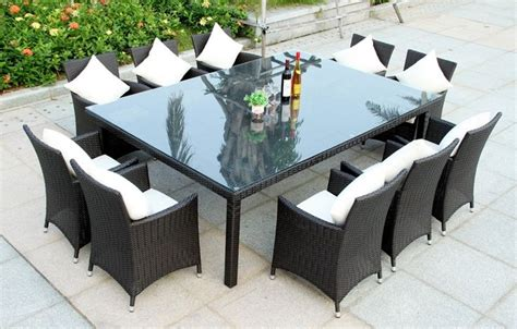 10 seater outdoor dining table wicker bbq indoor outdoor cabana 10 seater table set