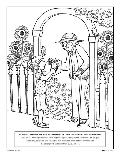 Coloring Page   Liahona July 2008   liahona