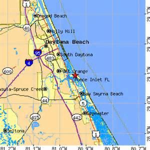 inlet florida map ponce inlet florida fl population data races