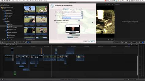 tutorial video final cut pro x final cut pro x tutorial pt 17 burning a dvd youtube