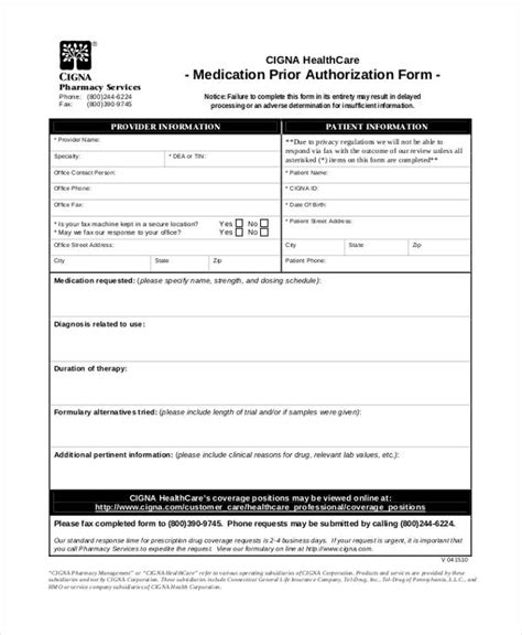 Prior Authorization Form Resume Template Sle Prior Authorization Form Template