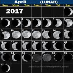 moon april 2017 images of lunar and moon phases in april 2017 calendar