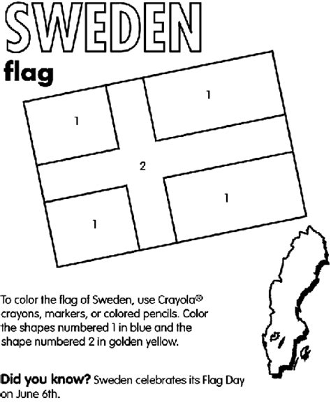 Swedish Coloring Pages sweden coloring page crayola