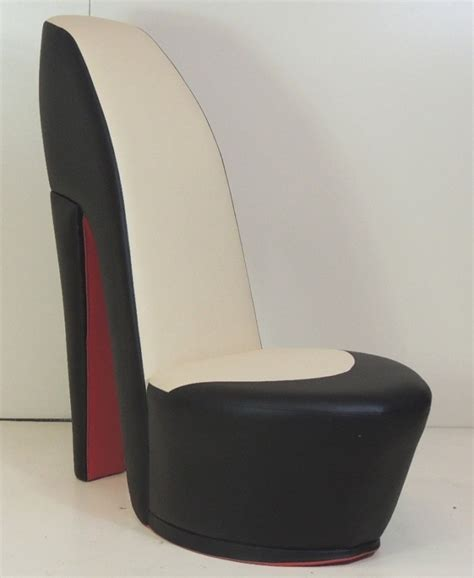 high heel sofa chair black cream shoe high heel stiletto chair with red