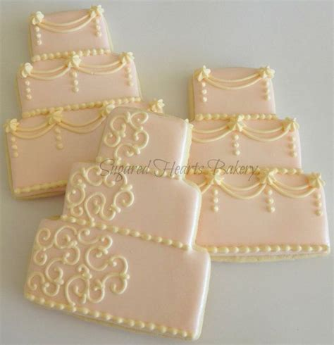 Wedding Cake Cookies by Best 25 Wedding Cookies Ideas On Wedding